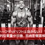 ハーフデッドリフトは効かない!?効果的な重量や回数、筋肉を徹底解説!