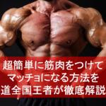 超簡単に筋肉をつけてマッチョになる方法を柔道全国王者が徹底解説!